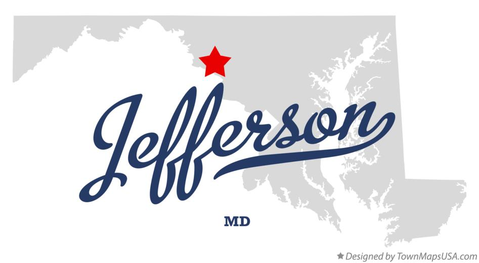 Map of Jefferson Maryland MD
