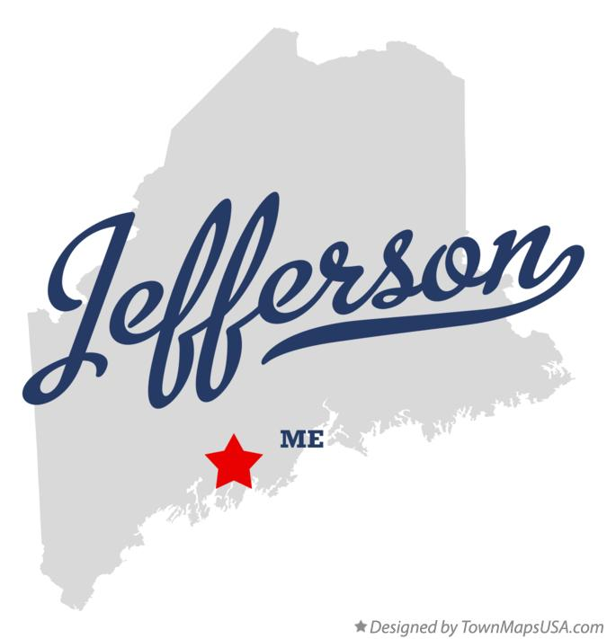 Map of Jefferson Maine ME