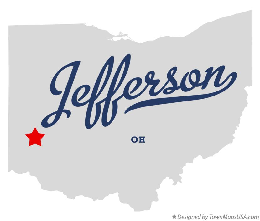 Map of Jefferson Ohio OH