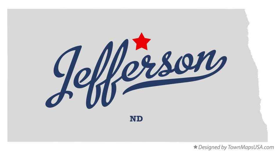 Map of Jefferson North Dakota ND