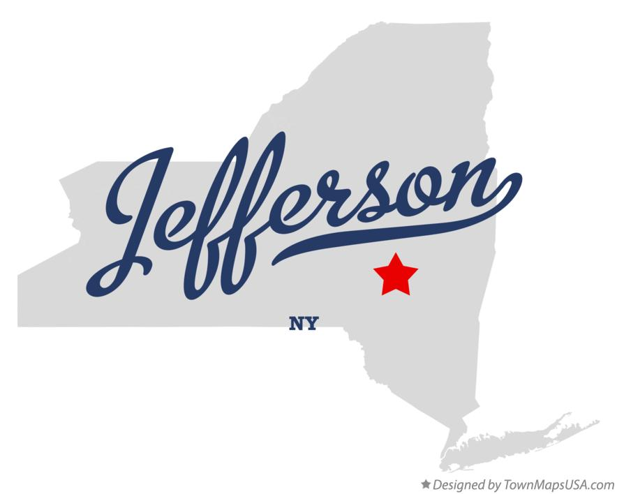Map of Jefferson New York NY