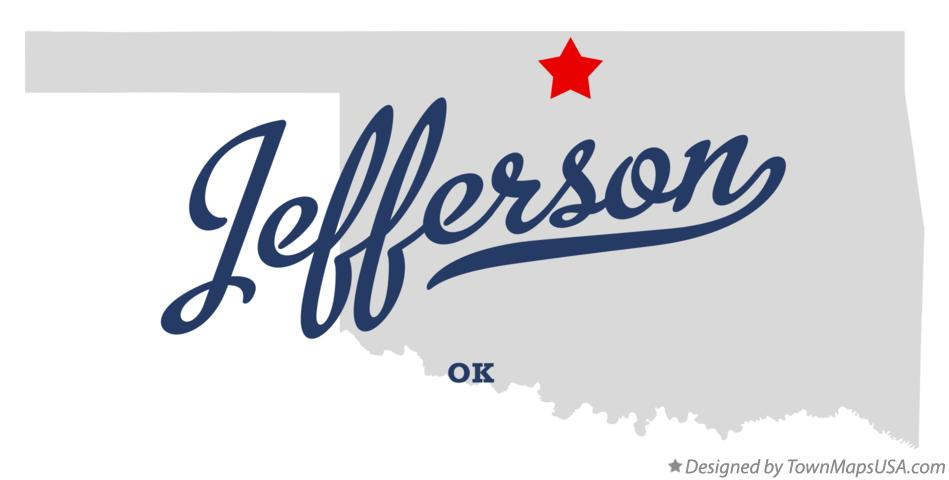 Map of Jefferson Oklahoma OK