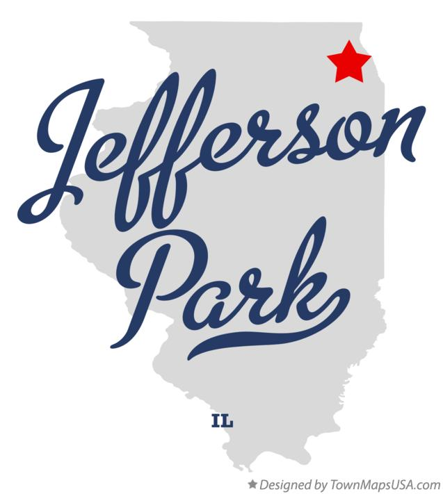 Map of Jefferson Park Illinois IL