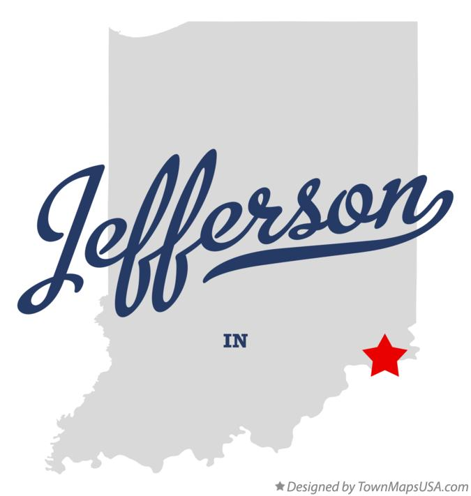 Map of Jefferson Indiana IN