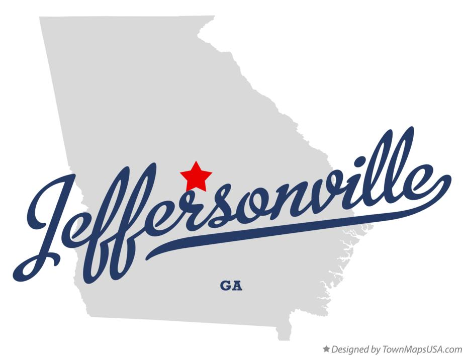 Map of Jeffersonville Georgia GA