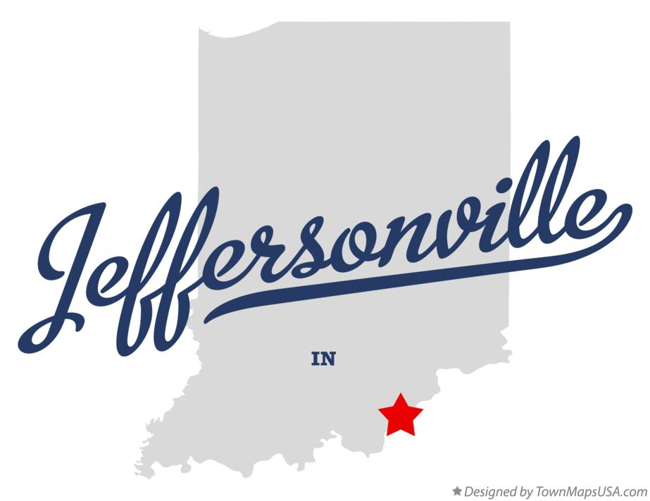 Map of Jeffersonville Indiana IN