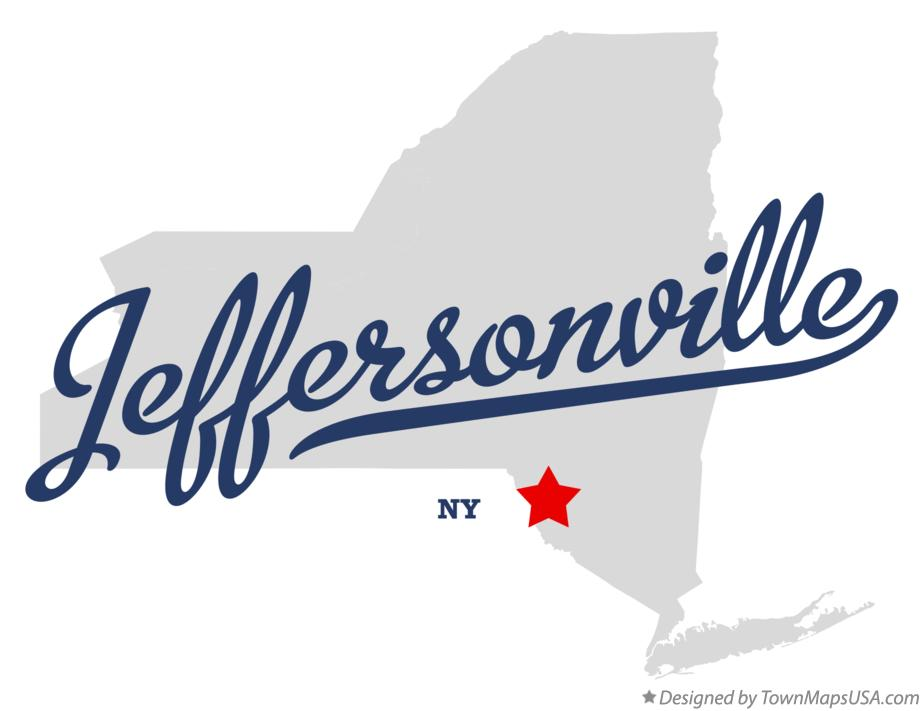 Map of Jeffersonville New York NY