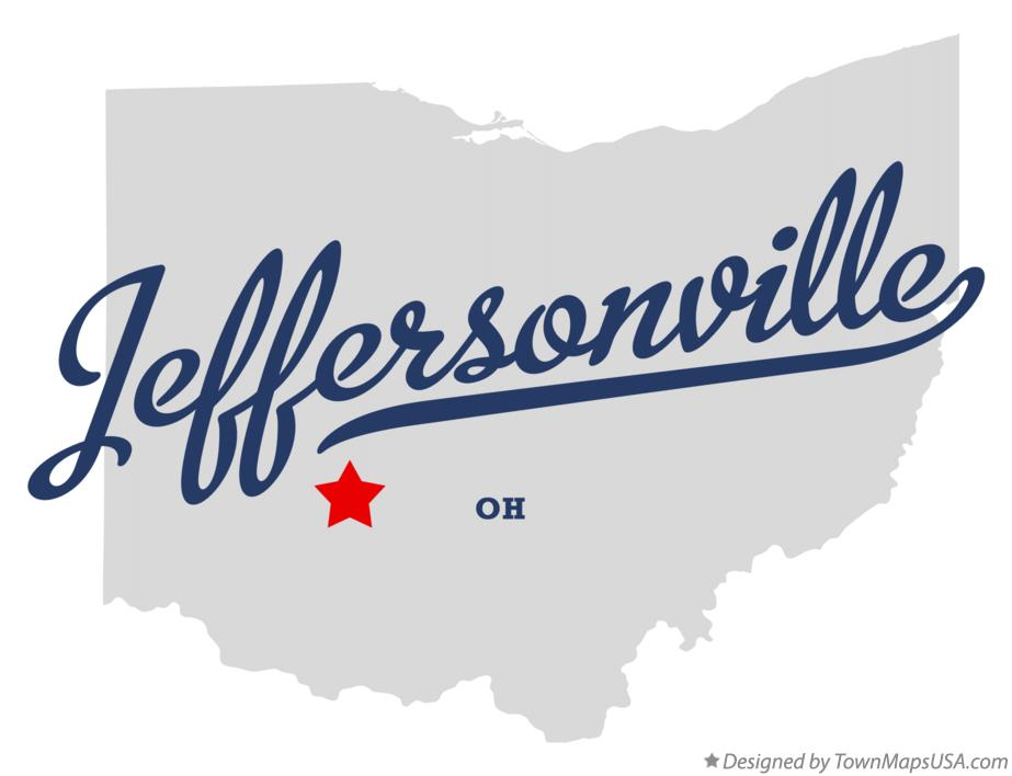 Map of Jeffersonville Ohio OH