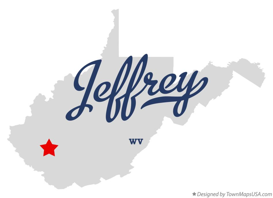 Map of Jeffrey West Virginia WV