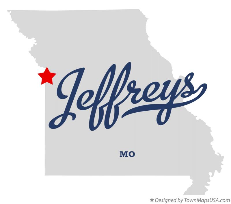 Map of Jeffreys Missouri MO