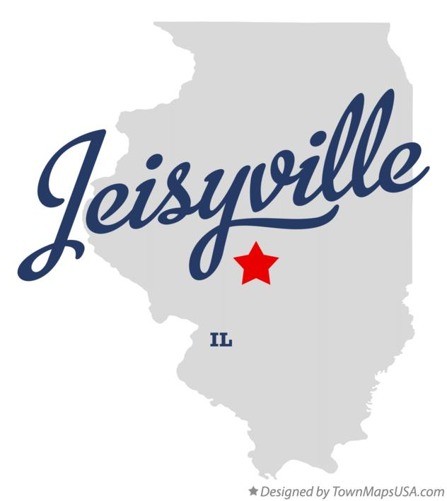 Map of Jeisyville Illinois IL