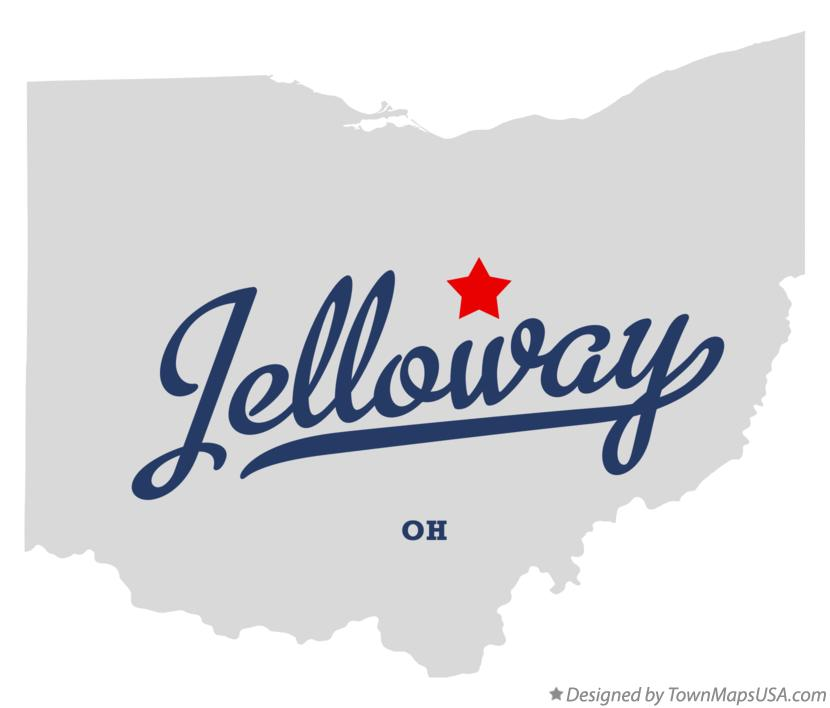 Map of Jelloway Ohio OH