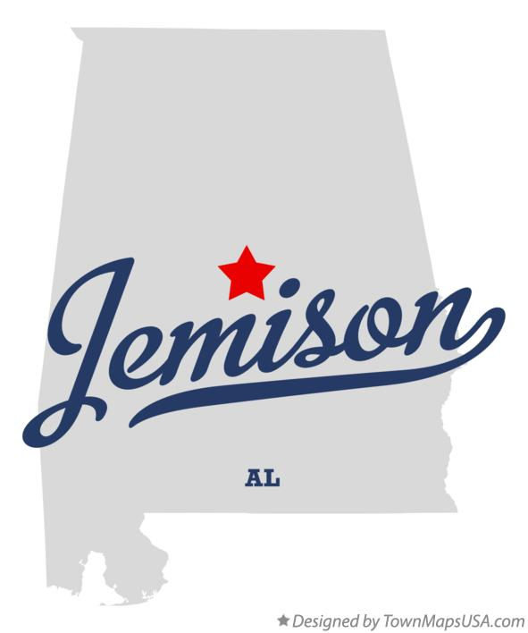 Map of Jemison Alabama AL