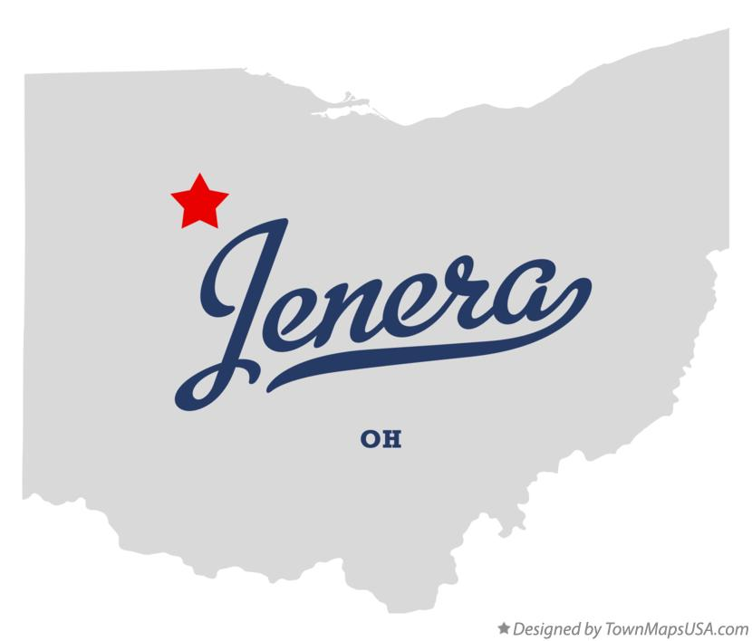 Map of Jenera Ohio OH