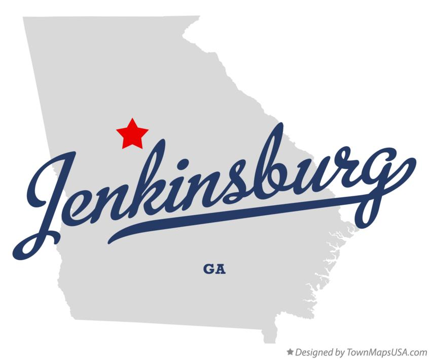 Map of Jenkinsburg Georgia GA