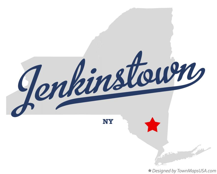 Map of Jenkinstown New York NY