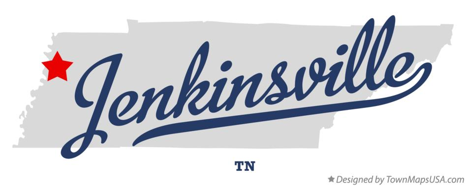 Map of Jenkinsville Tennessee TN