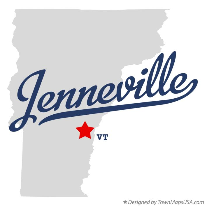 Map of Jenneville Vermont VT