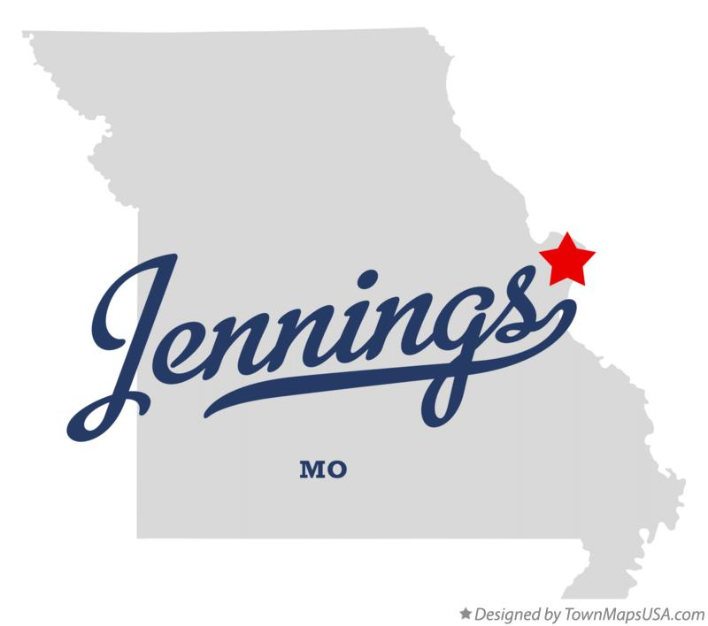 Map of Jennings Missouri MO