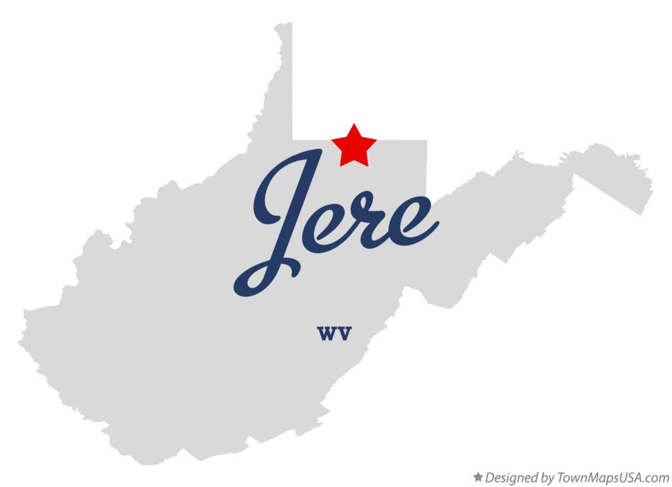 Map of Jere West Virginia WV