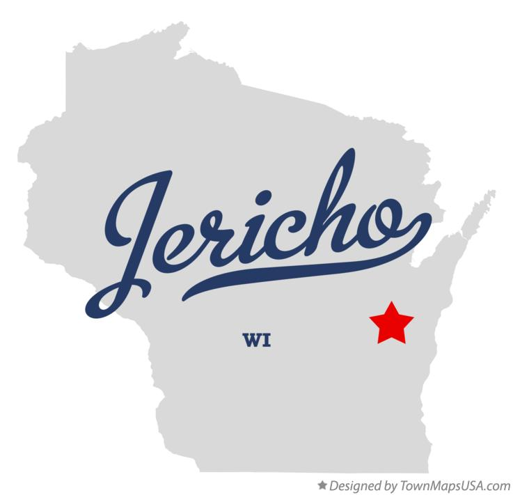 Map of Jericho Wisconsin WI