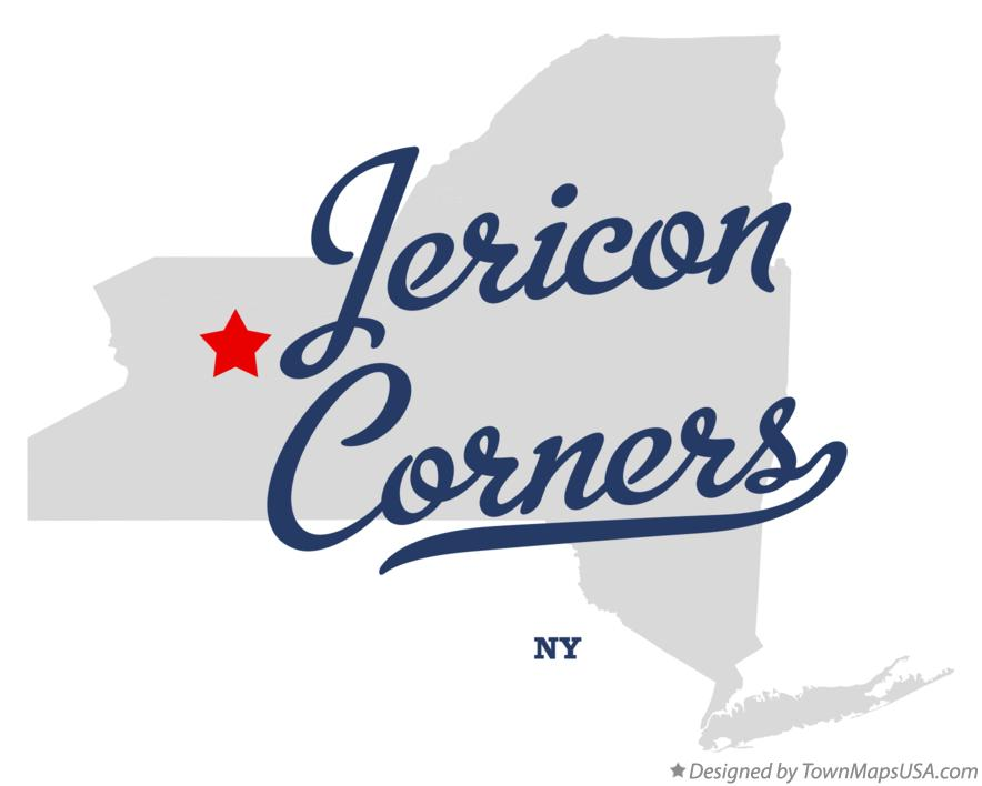 Map of Jericon Corners New York NY