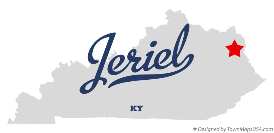 Map of Jeriel Kentucky KY