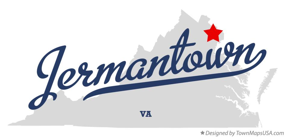 Map of Jermantown Virginia VA