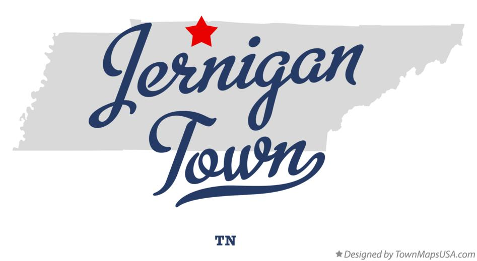 Map of Jernigan Town Tennessee TN