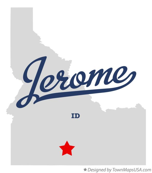 Map of Jerome Idaho ID