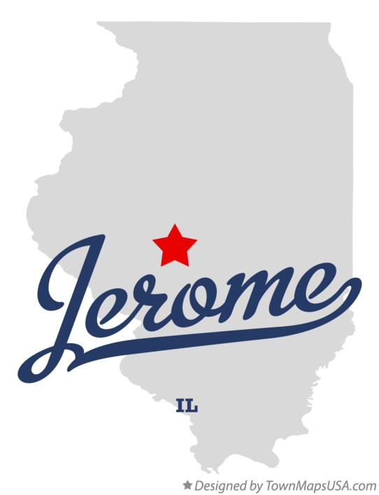 Map of Jerome Illinois IL