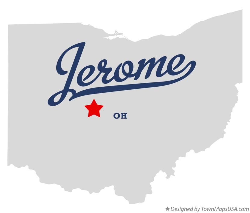 Map of Jerome Ohio OH