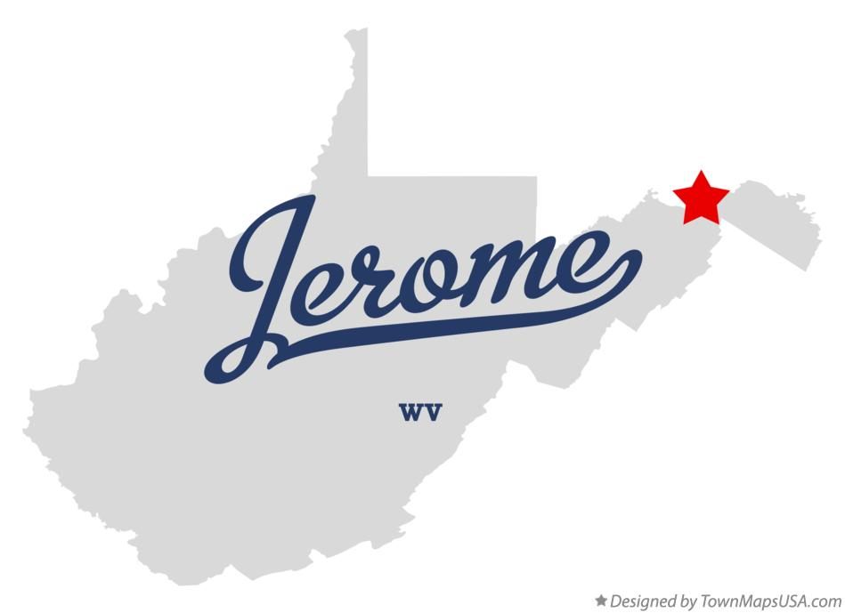 Map of Jerome West Virginia WV