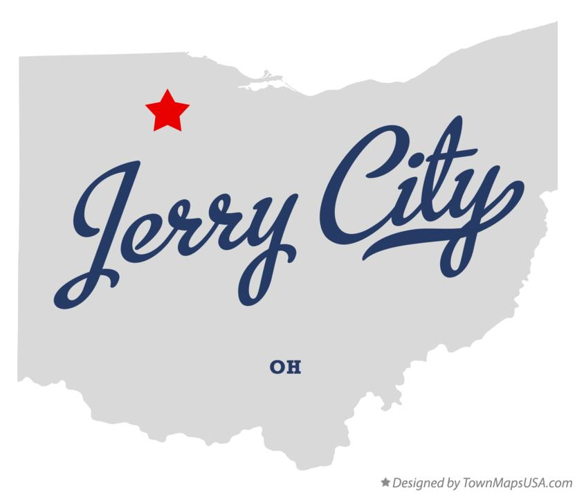 Map of Jerry City Ohio OH