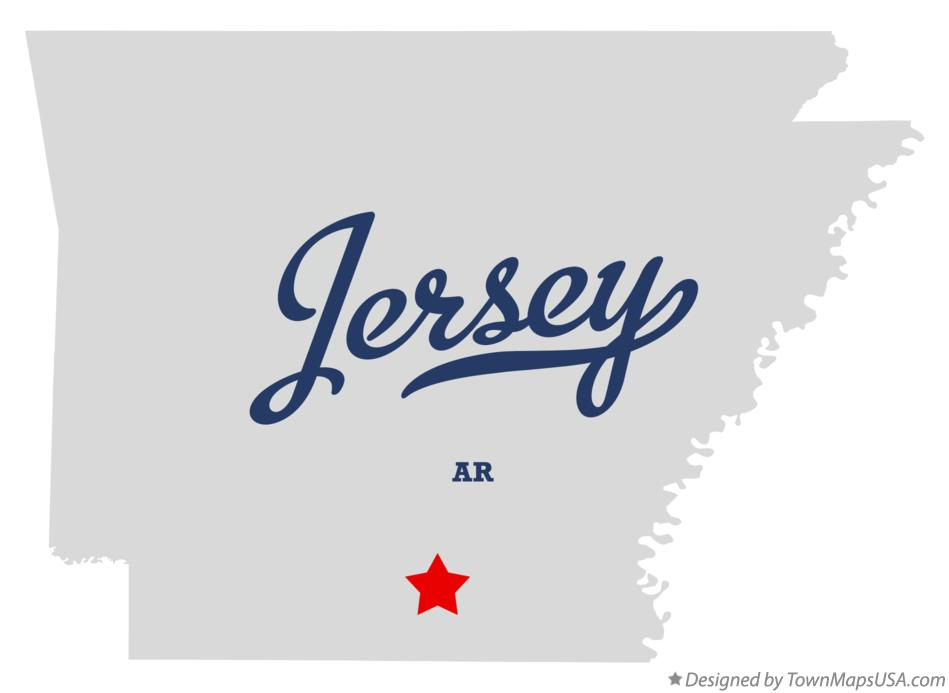 Map of Jersey Arkansas AR