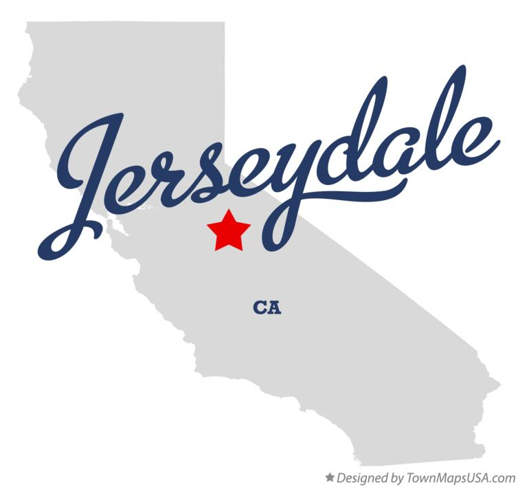 Map of Jerseydale California CA
