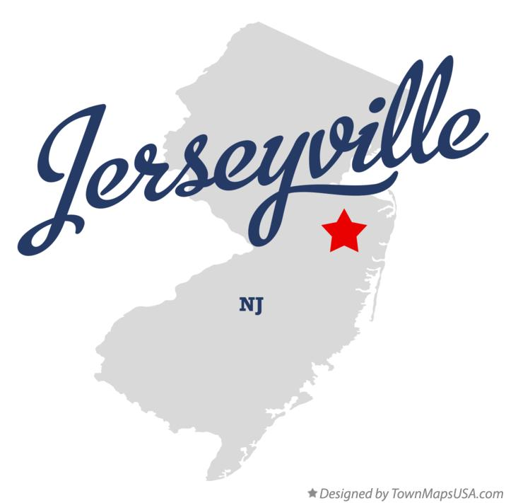 Map of Jerseyville New Jersey NJ