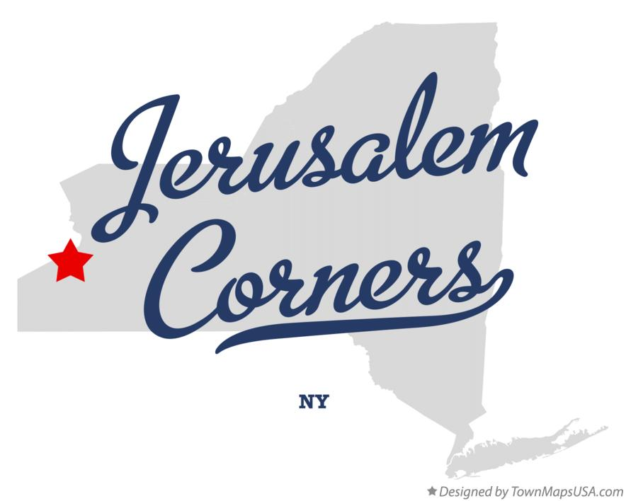 Map of Jerusalem Corners New York NY