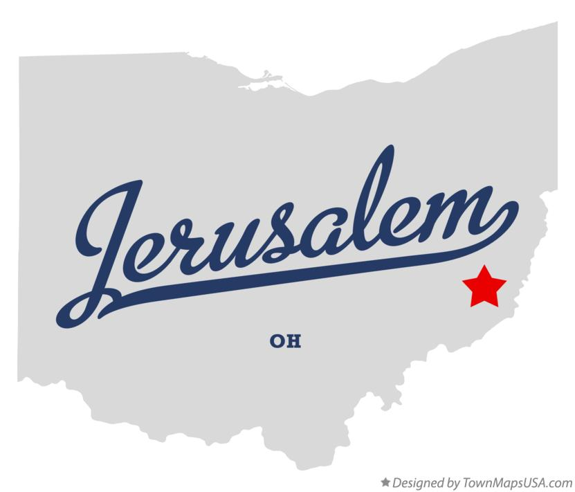 Map of Jerusalem Ohio OH