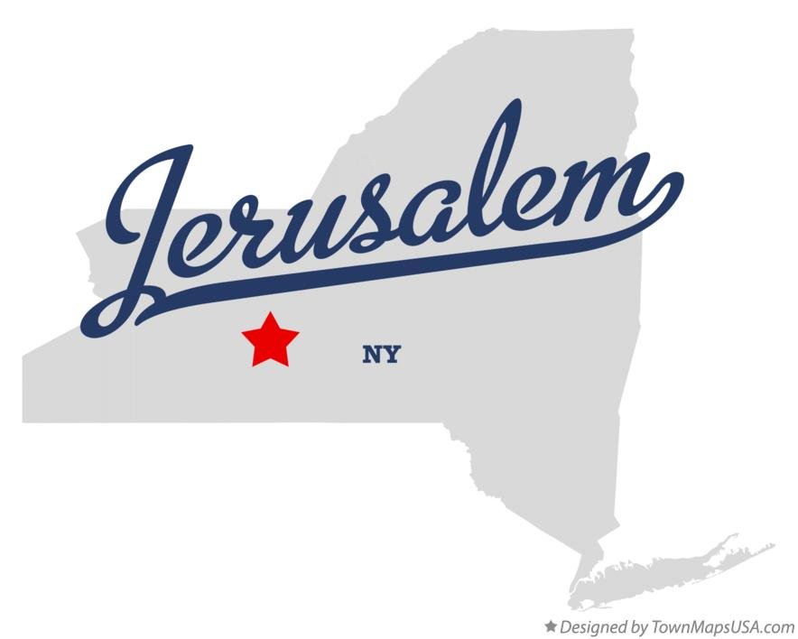 Map of Jerusalem New York NY
