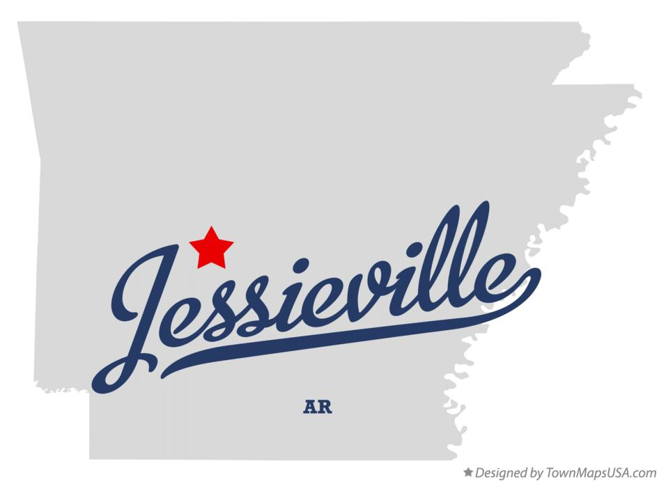 Map of Jessieville Arkansas AR