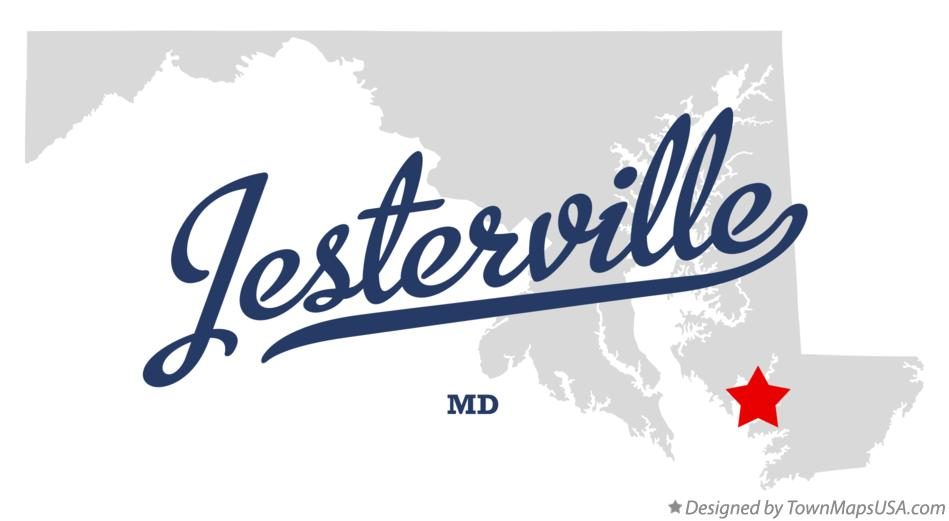 Map of Jesterville Maryland MD
