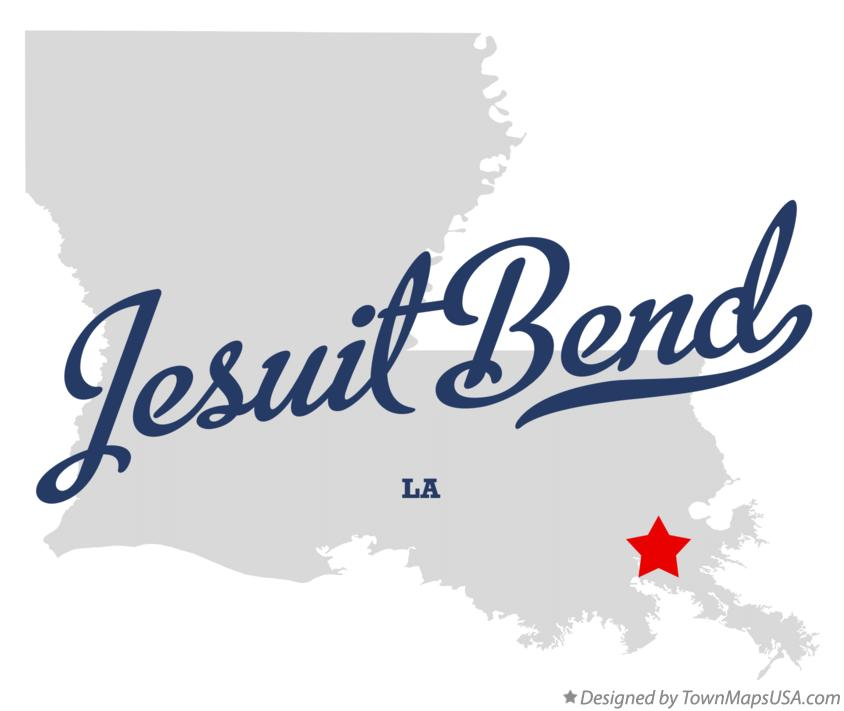 Map of Jesuit Bend Louisiana LA