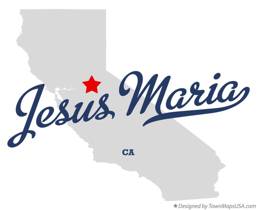 Map of Jesus Maria California CA