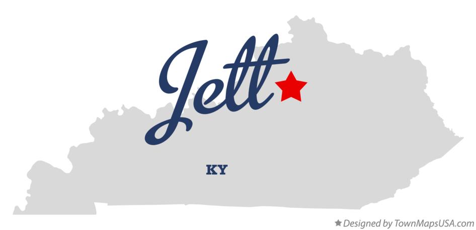 Map of Jett Kentucky KY