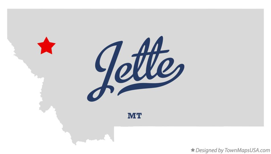 Map of Jette Montana MT