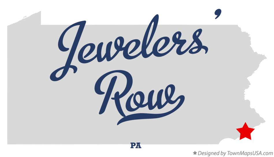 Map of Jewelers' Row Pennsylvania PA