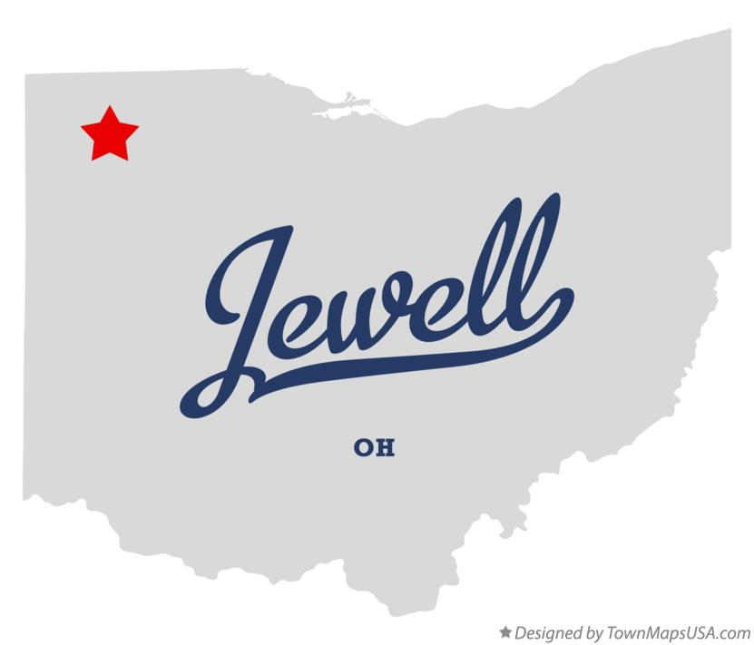 Map of Jewell Ohio OH