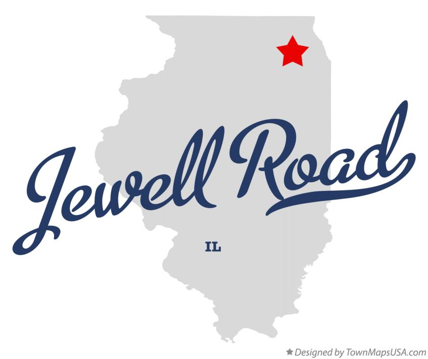 Map of Jewell Road Illinois IL