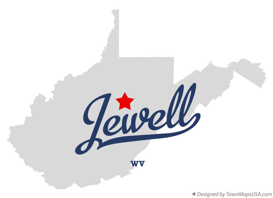 Map of Jewell West Virginia WV